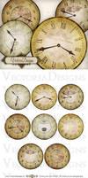 Printable Vintage Clocks 2.5 inch