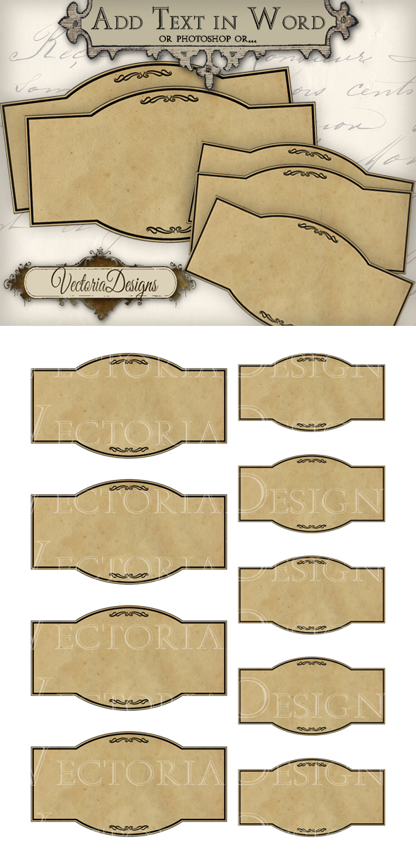 Blank Apothecary Labels Printable blank apothecary