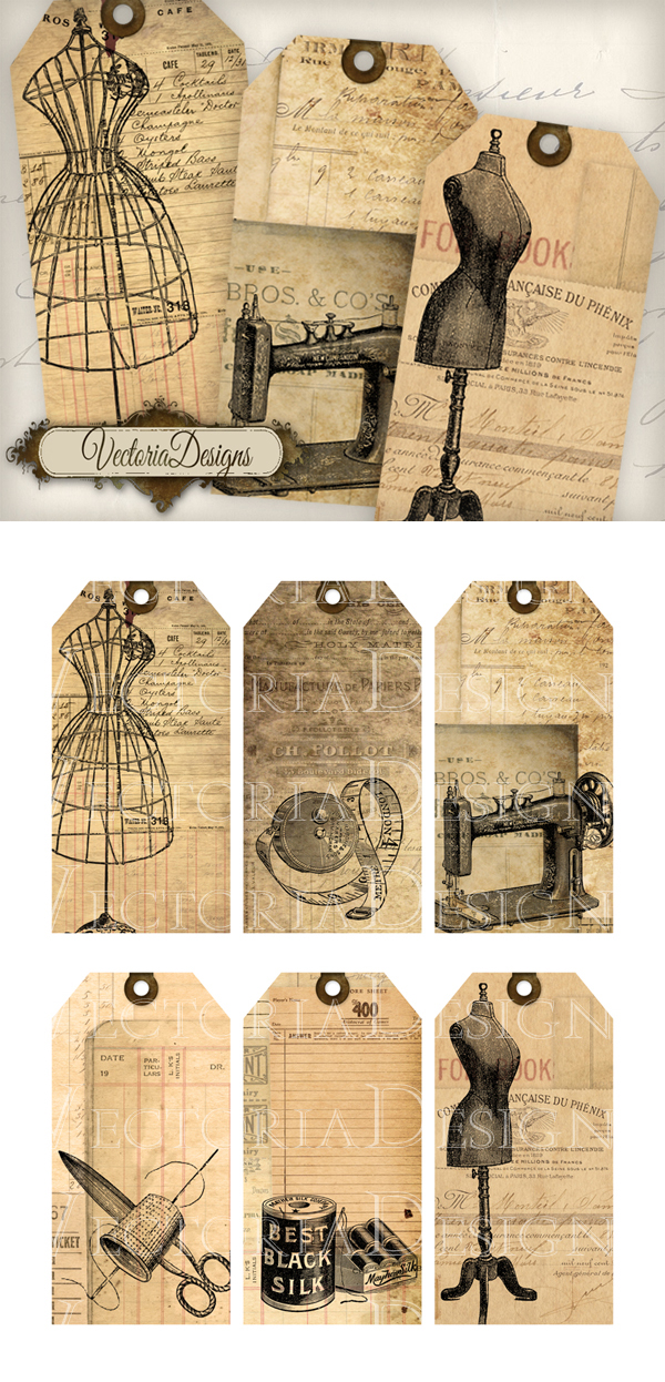Printable Sewing Tags by VectoriaDesigns on DeviantArt