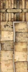 Digital Ephemera Papers by VectoriaDesigns