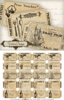 Printable Free Ticket Strips by VectoriaDesigns