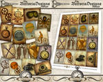 Printable Steampunk Stamps