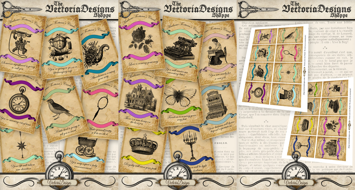 Printable Fortune Teller Cards By Vectoriadesigns On Deviantart