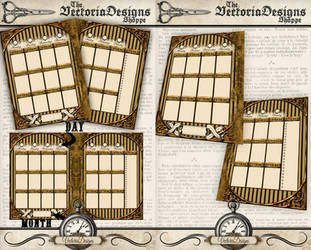 Printable Steampunk Day Planner by VectoriaDesigns