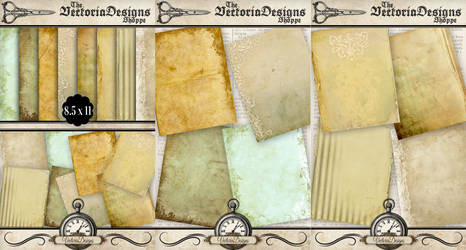 Printable Shabby Chic Paper Pack by VectoriaDesigns