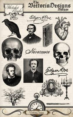 Edgar Allan Poe Photoshop Brushes