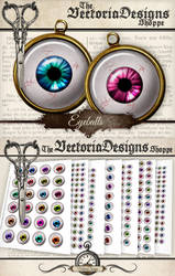 Printable Eyeball Circles by VectoriaDesigns
