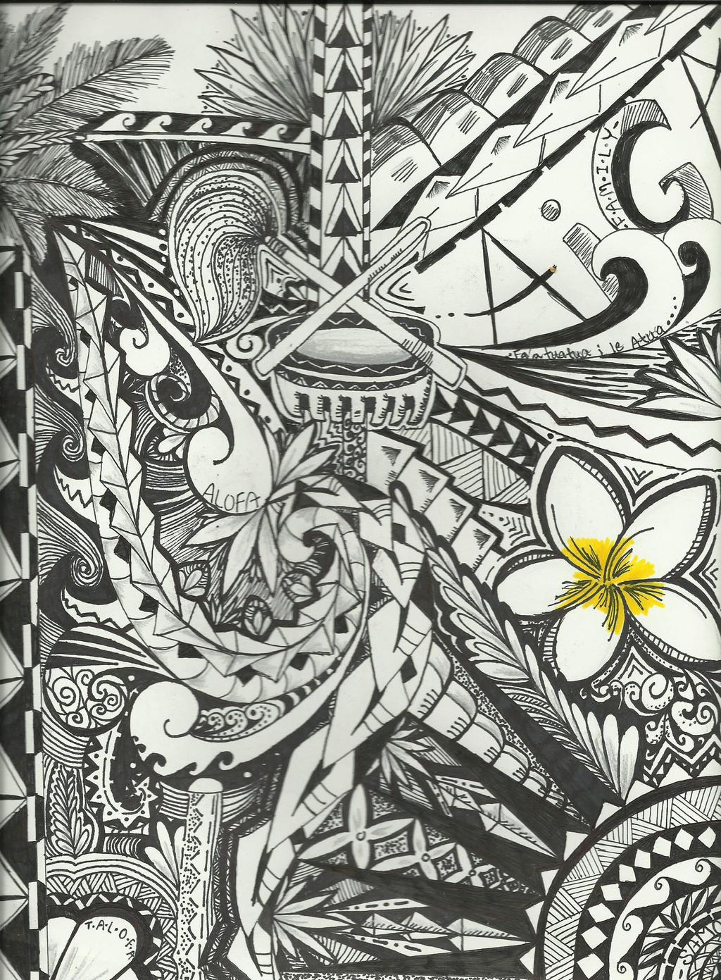 Samoan Art Designs : Fine line polynesian design by geeky afakasi