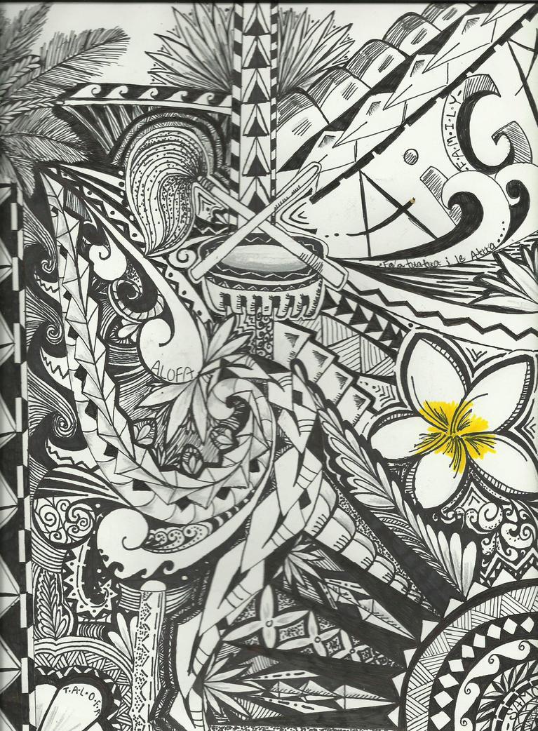 Fine Line Polynesian Design