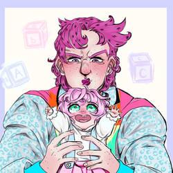 Dadiavolo and Baby Twish by GeeKy-AfAkAsi-NiNjA