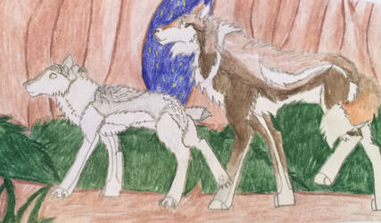 WoLF | Gunnveer | Father and Daughter by JaywolfKip