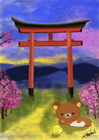A Shrine and RilakKuma by cristinaw