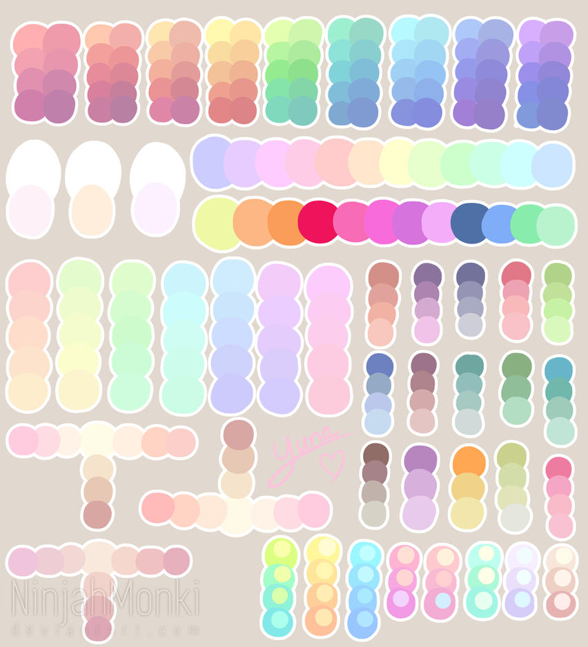 Pastel Color Palette: Pastel Colour Palette By NinjahMonki On DeviantArt