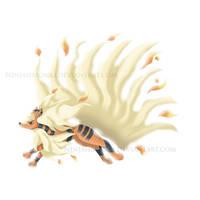 Pokemon Fusion - Arcanine + Ninetales by NinjahMonki