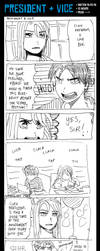 [Manga Sketch] President and Vice by Laugh-Butts