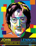 John Lennon in WPAP (Wedha's Pop Art Potrait)