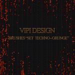 Hi-Res Brushes - Set Techno-Grunge