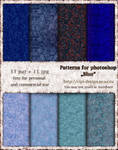 Patterns for photoshop - Blue