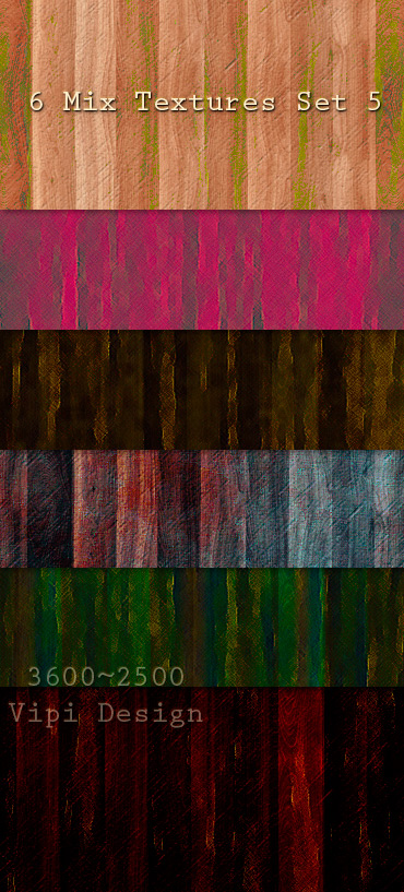 6 Mix Textures Set 5 by elixa-geg