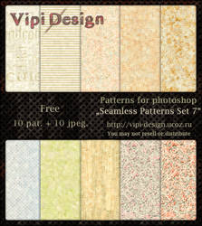Seamless Patterns Set 7 by elixa-geg