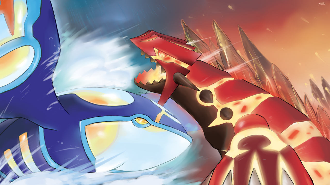 Primal kyogre vs primal groudon by optimusnd on deviantart - Pictures of groudon and kyogre ...