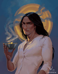 'Smoke and Secrets' No Reference Portrait by stevie-rae-drawn