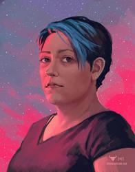 November 1 2017 Self Portrait by stevie-rae-drawn