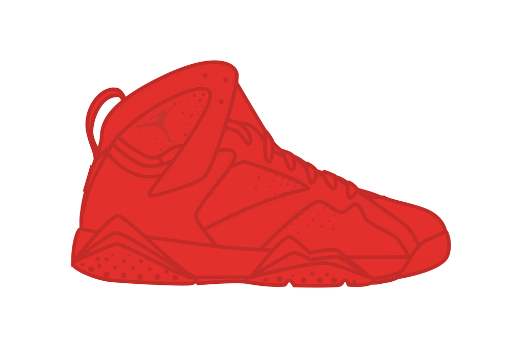 Aj7_air jordan 7_Yeezy_Red_October by kleneg