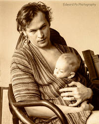 Edward with son 1972