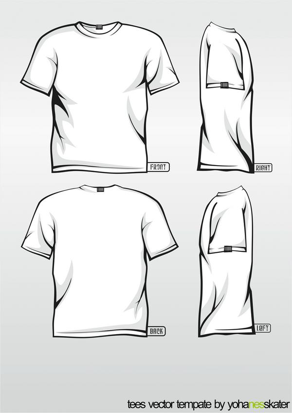 t shirt vector template by elegiyohanes on deviantart. Black Bedroom Furniture Sets. Home Design Ideas