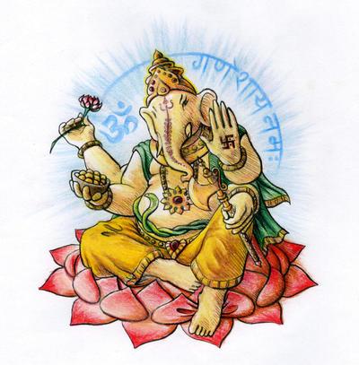 Ganesha tattoo design by Vohvelielain on DeviantArt