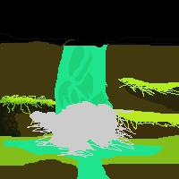 Pixel Waterfall scene [WIP] by MaestroShark