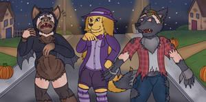 More Fitting Costumes - Werewolf TF + Bat TF
