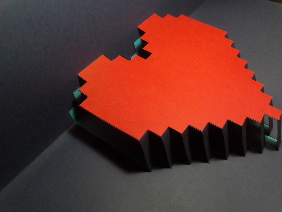8-bit heart card handmade! by ndread