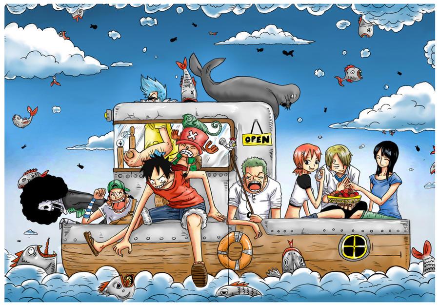 A vous de jouer ! One_Piece___Raining_Fish_by_JERRYABISTADO