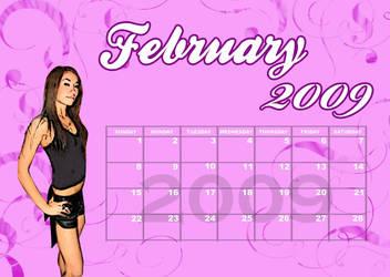 Calendar Feb 2009 by azngunit81