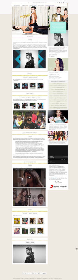Lea Michele wordpress