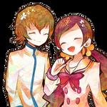 Itsuki y Tsubomi render *m*