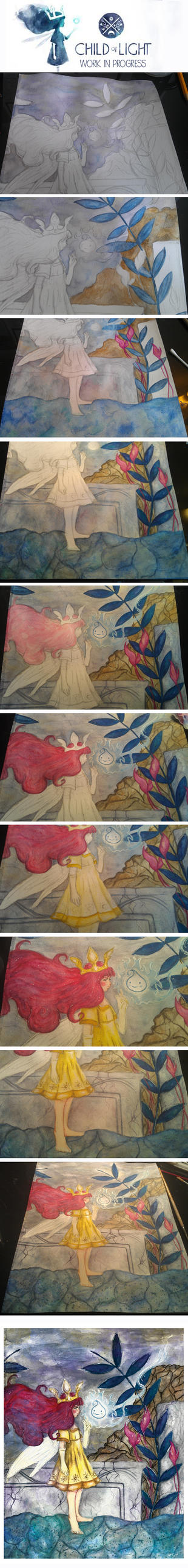 Child of Light - WIP by Azalane
