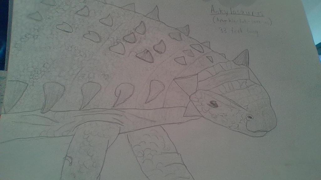 Ankylosaurus drawing by Dracorider19