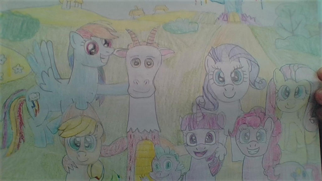 Photo of Blithe and the Mane 6 plus Spike! by Dracorider19
