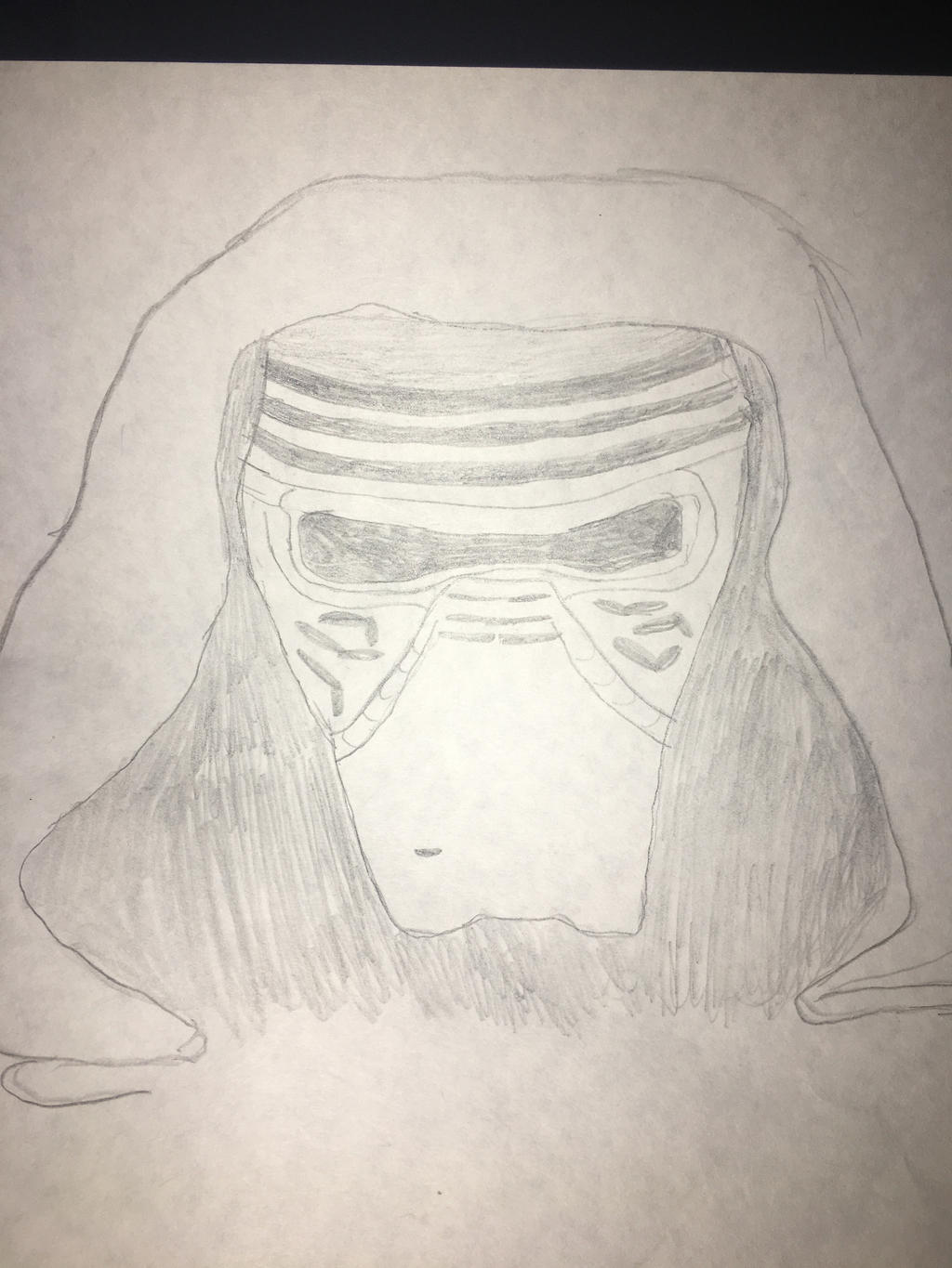 My drawing of Kylo Ren by Dracorider19