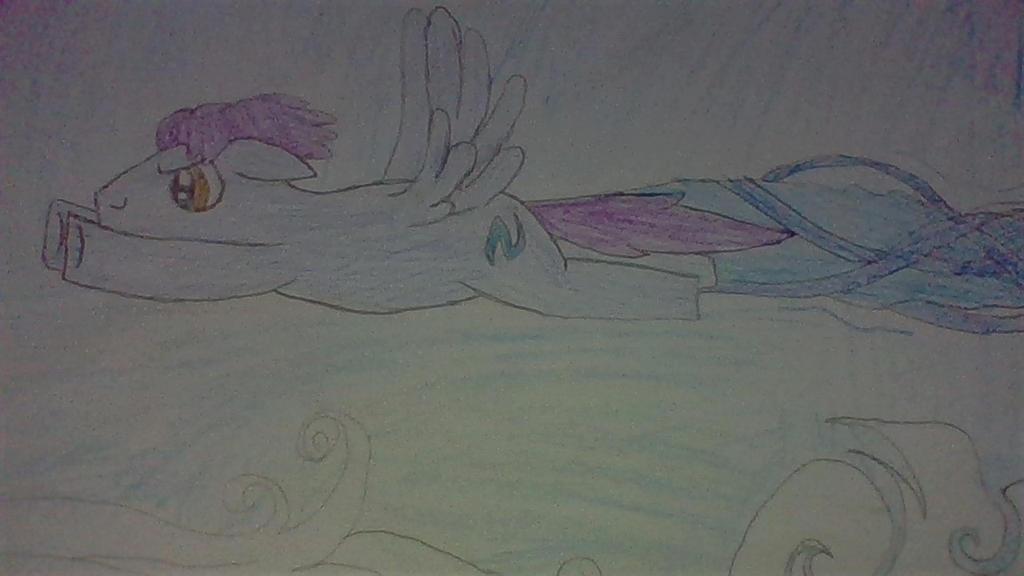 Plasma Blaze flying (fast). by Dracorider19