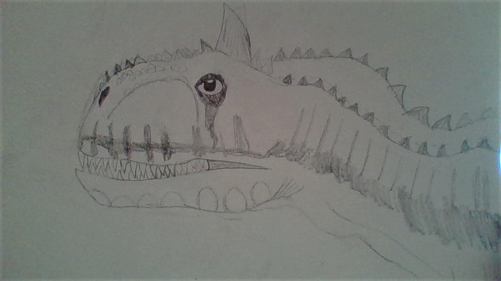 Drawing of Carnotaurus by Dracorider19