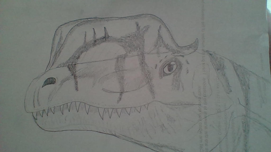 Drawing of Dilophosaurus by Dracorider19