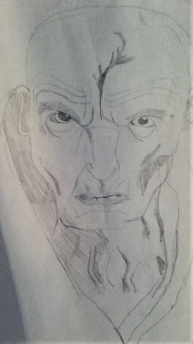 Supreme Leader Snoke drawing 3 by Dracorider19