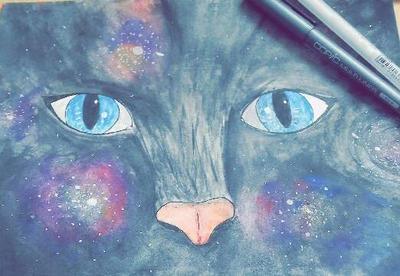 The universe kitten by LizzHeart