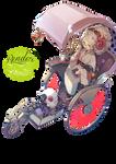 Render 29 - Girl in a peculiar transport.