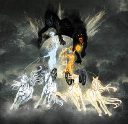 Sol and Mani Norse gods