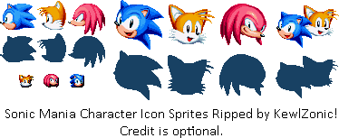 Sonic Mania Character Icon Sprites
